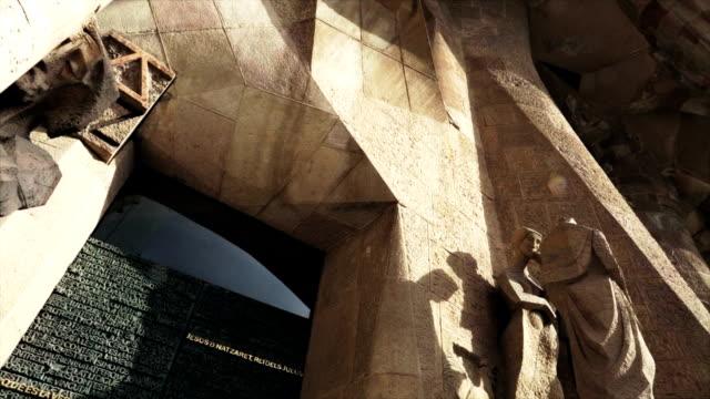 The architecture of sagrada familia in modern side video