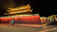 The Archway is a traditional piece of architecture and the emblem of the city of Jianshui, China video