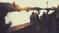 The Arno river at sunset, in Firenze video