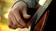 the arpeggio with fingers on a classical acoustic guitar video