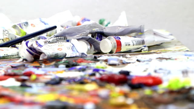 The Artist Mixes Paint video