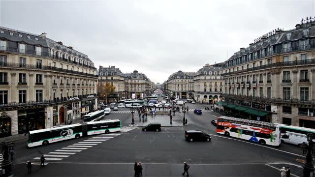 The Avenue de l'Opera National de Paris (timelapse) video