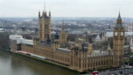 The back view of the Palace of Westminster in London video