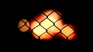 the background defocused burning fire by night video