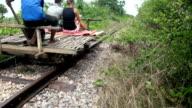 The Bamboo Train in Cambodia video