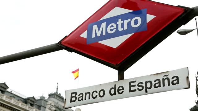 The Bank of Spain - Banco de Espana in Madrid video