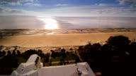 The beach in Parnu with the sun setting video