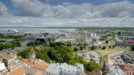 The beautiful aerial shot of Tallin Estonia video
