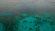 The beautiful bay aerial view. Tropical islands video