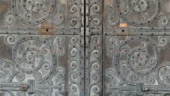 The beautiful big door of the Westminster Abbey church video