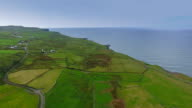 The beautiful Cliffs of Moher in an aerial view video