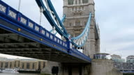 The beautiful London Bridge in London video