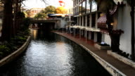 The beautiful Riverwalk in San Antonio, Texas video