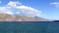 The beauty of Pangong Tso, a high altitude lake in Ladakh, the indian Himalayas video