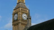 The Big Ben clock in Westminster Abbey video