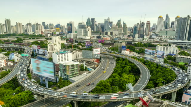 TL: the big curve multiple high way in Bangkok video