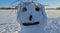 The big face of the snowman video