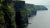 The big rocks and the sea in Moher Cliffs  Ireland video