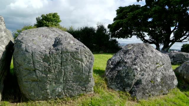 The big stones on the green pasture Ireland video