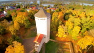 The big tower on the forest in Paide video