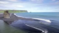 The black sand beach in Iceland. video