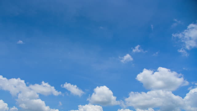The blue sky with white clouds video