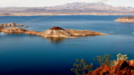 The blue water of Lake Mead Nevada video