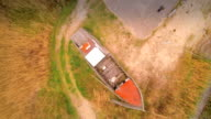 The boat on dock in the ground in Vergi video