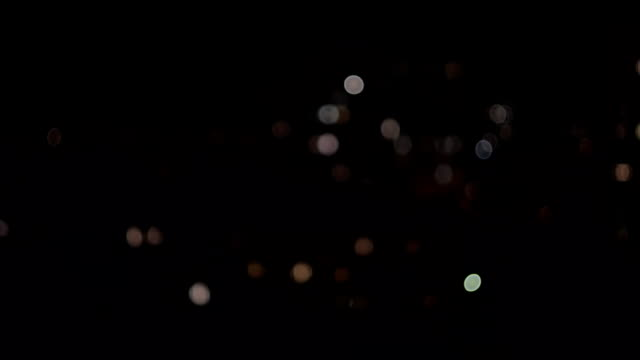 The Bokeh. Night city. Background. video