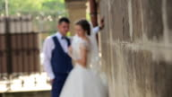 The bride and groom look at each other video