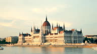 The building of the Parliament in Budapest, Hungary video
