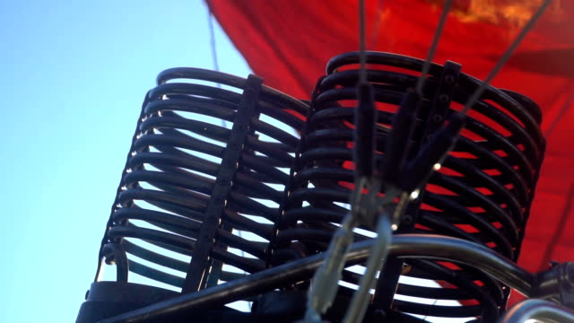 The burner for Hot Air Balloon slow motion video