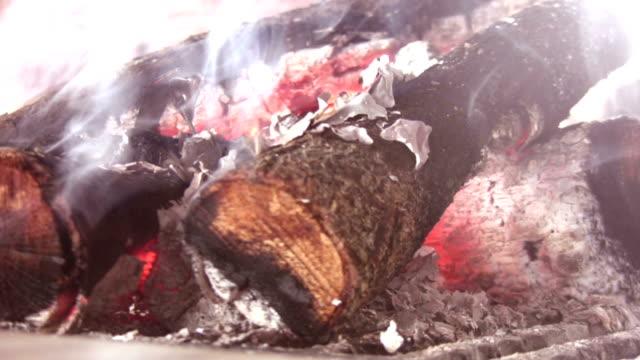 The burning wood block video