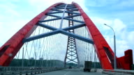 the car rides on a bridge video