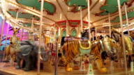 The carousel at the amusement park video