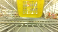 The cart in a supermarket. video