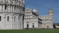 The Cathedral of Pisa and Leaning Tower, Italy video