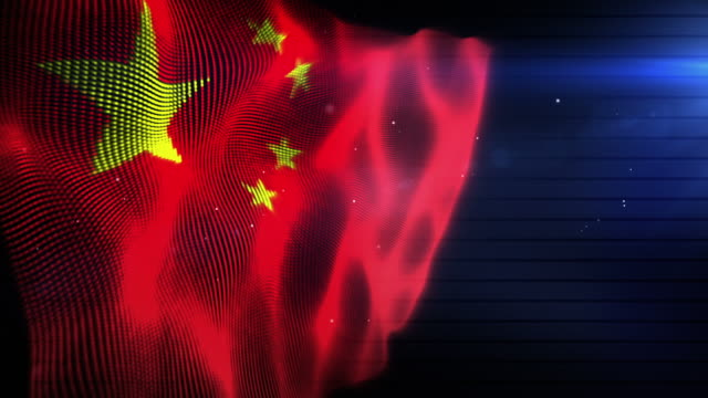 The Chinese Flag - Background Loop (Full HD) video
