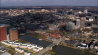 the Christina River through Wilmington  - Aerial View - Delaware,  New Castle County,  United States video