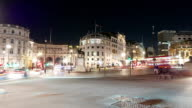 The circus at Trafalgar Square London Charing Cross - time lapse shot video