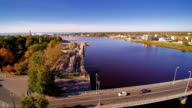 The city harbor in Parnu Estonia video