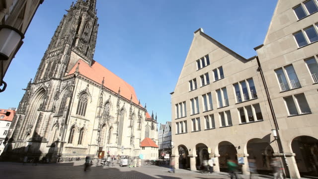 The City Münster in Germany - Prinzpalmarkt video