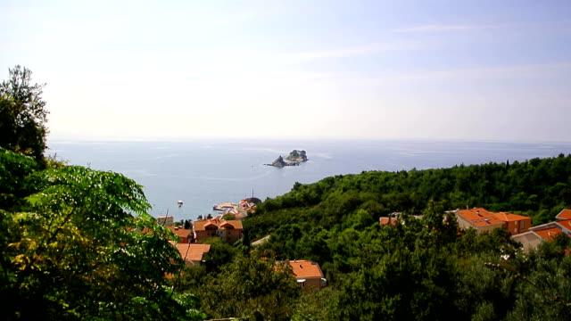 The city of Petrovac in Montenegro, the Adriatic Sea, the Balkan video