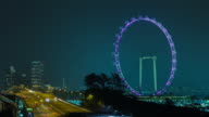 4K TIME LAPSE (4096x2160) : The cityscape at Singapore (APPLE PRORES 422(HQ)). video