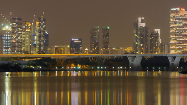 4K TIME LAPSE (4096x2160) : The cityscape night time (APPLE PRORES. 422(HQ)). video