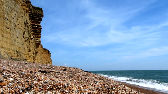 The cliffs at Burton Bradstock, Jurassic Coast, Dorset video