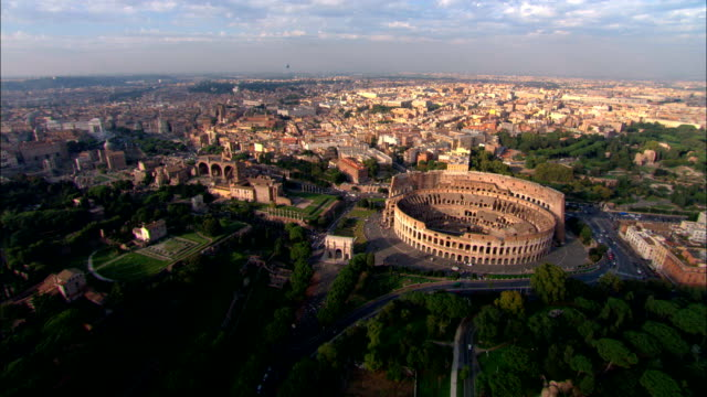 The Coliseum, Rome - Aerial View - Latium, Rome, Italy video