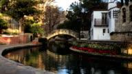 The colorful Riverwalk in San Antonio, Texas video