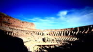 The Colosseum in Rome, cloud flowing video