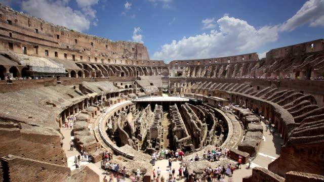 The Colosseum interior, Rome, Italy video